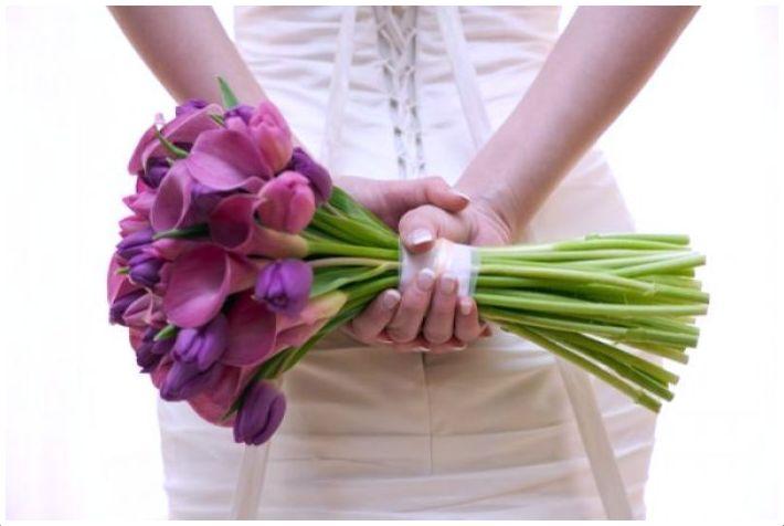 Bukiety ślubne z tulipanów