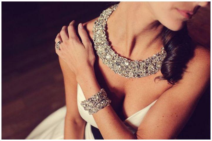 Duże naszyjniki ślubne