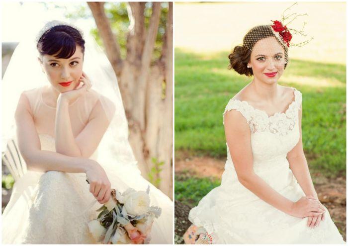 Czerwone usta do ślubu