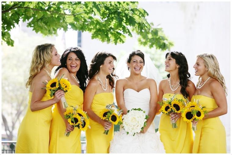 dekoracje weselne ze słoneczników