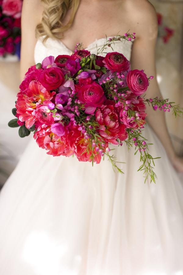 wesele w barwach fuksji i fioletu