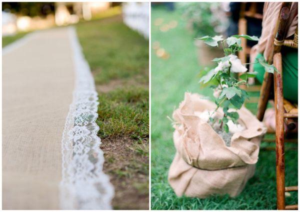 Dekoracje weselne z ekologicznego materiału
