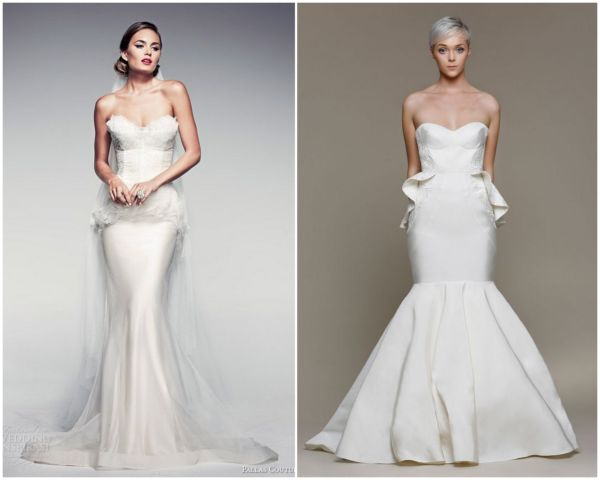Suknia ślubna z baskinką