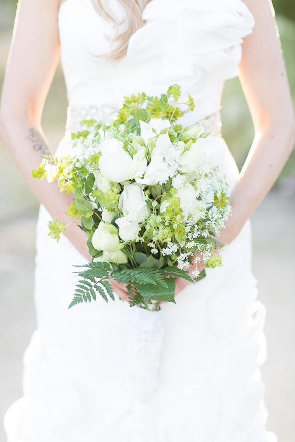 Bukiet ślubny z paprotek