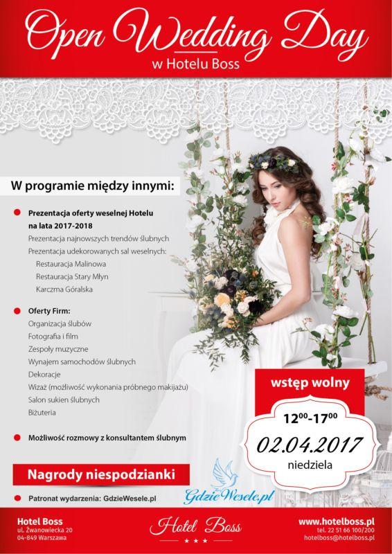 Już 2 kwietnia Open Wedding Day w Hotelu Boss
