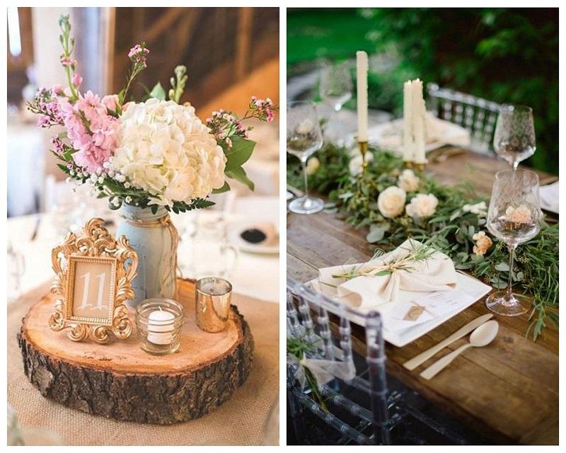 800kolaz1 Drewno – modny dodatek do dekoracji ślubnych